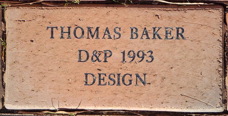 Commemorative Brick example
